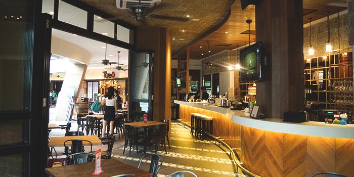 Interior of Barossa at Esplanade Mall in Promenade, Singapore