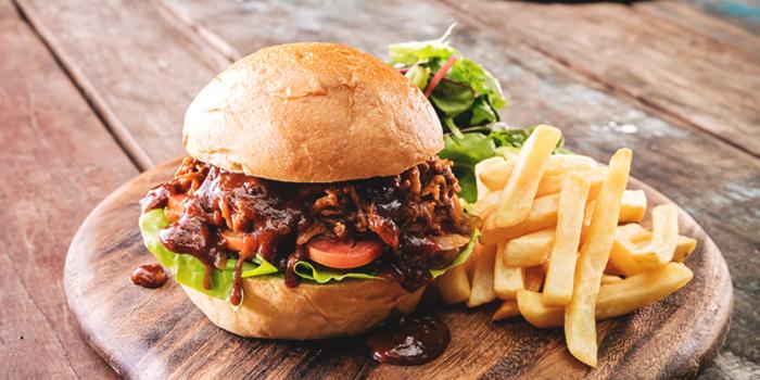 Pulled Pork Burger from Barossa at Esplanade Mall in Promenade, Singapore