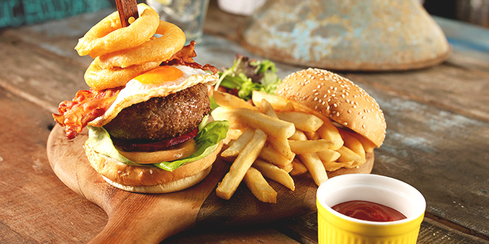 Wild Wild West Burger from Barossa at Esplanade Mall in Promenade, Singapore