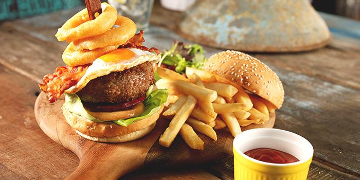 Wild Wild West Burger from Barossa Gastrobar (Esplanade) at Esplanade Mall in Promenade, Singapore