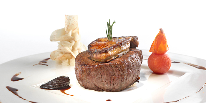 """Beef Tenderloin """"Rossini Style"""" with Pan fried Foie Gras and Truffle Sauce, Brasserie On The Eighth, Admiralty, Hong Kong"""