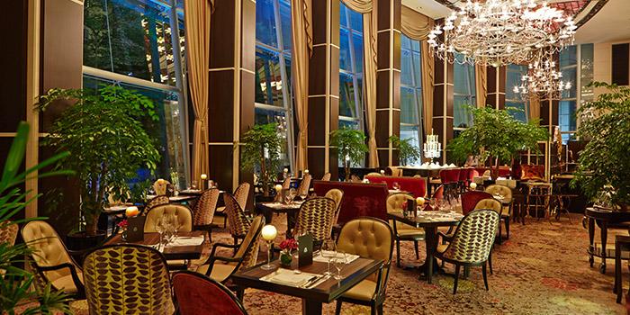 Interior of Brasserie Les Saveurs at St. Regis Singapore in Tanglin, Singapore