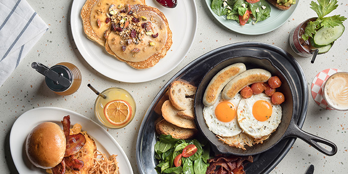 Brunch Spread from OverEasy (Orchard) in Orchard, Singapore