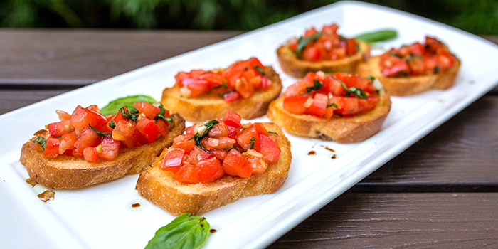 Bruschetta from Paprika & Cumin Wine Bar Bistro in CHIJMES in City Hall, Singapore
