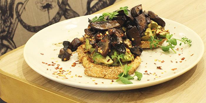 Marmite Mushroom Toast from Common Man Stan in Raffles Place, Singapore