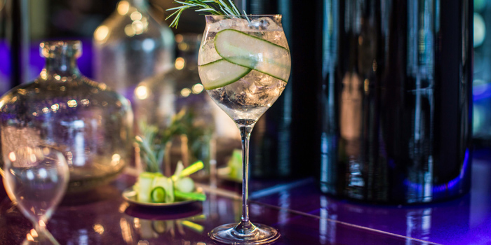 Cucumber Gin & Tonic from WOOBAR at W Hotel 106 North Sathorn Rd Silom, Bangrak Bangkok