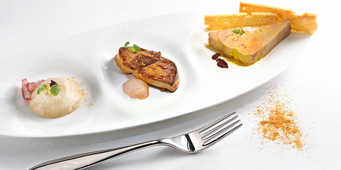 Foie Gras Three Ways, Brasserie On The Eighth, Admiralty, Hong Kong