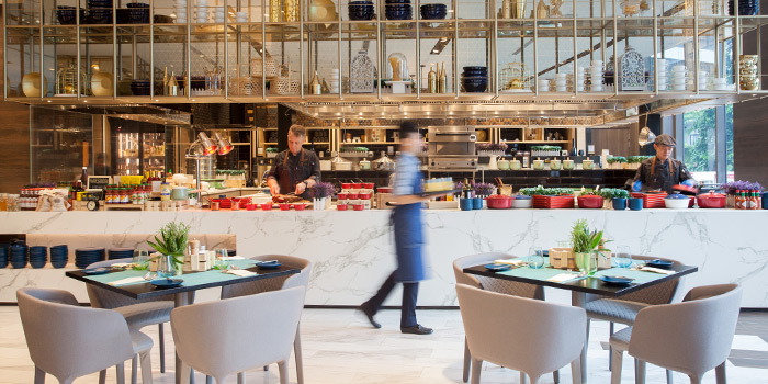 Dining Room in Food Exchange at Novotel Singapore on Stevens in Tanglin, Singapore