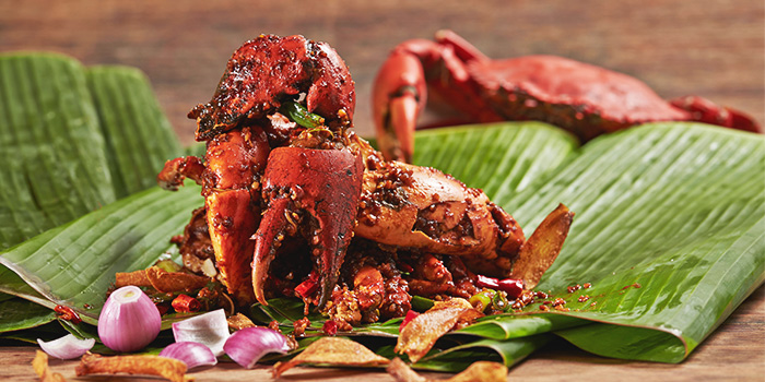 Wok Fried Crabs in Sha Cha Sauce from Ginger in PARKROYAL on Beach Road in Bugis, Singapore