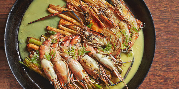 Pan Fried River Prawns from Ginger in PARKROYAL on Beach Road in Bugis, Singapore