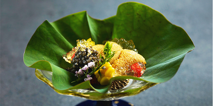 Hokkaido Uni Cavier and Season Vegetables from Ki-Sho in Orchard, Singapore