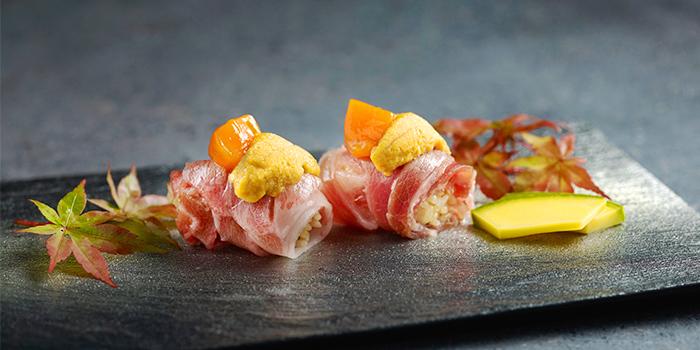 Wild Caught Blue Fin Otoro Sushi with Hokkaido Uni from Ki-Sho in Orchard, Singapore
