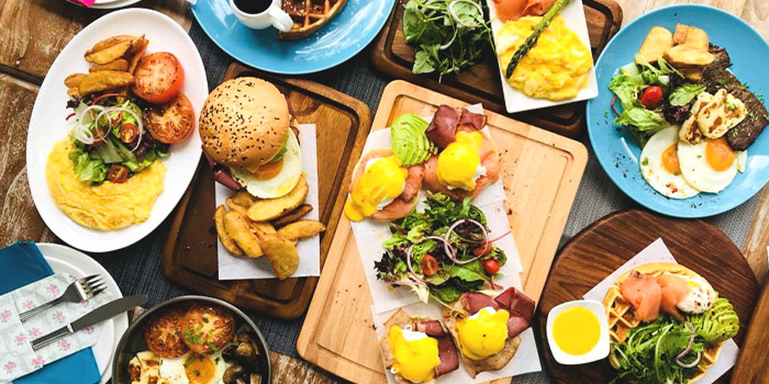 Breakfast Spread from Miska Cafe (Sentosa) in Sentosa, Singapore