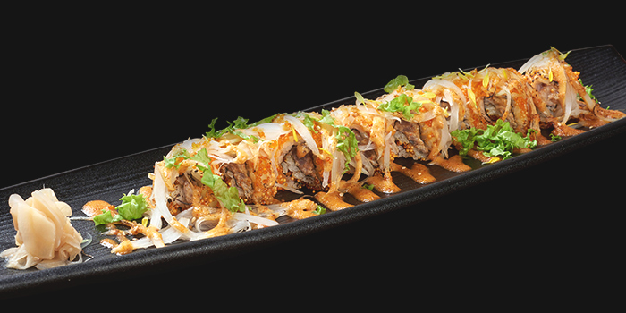 Aburi Spicy Tuna Maki from Mitsu Sushi Bar in Duxton, Singapore