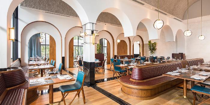 Interior of Origin Grill at Shangri-La Hotel in Orchard, Singapore