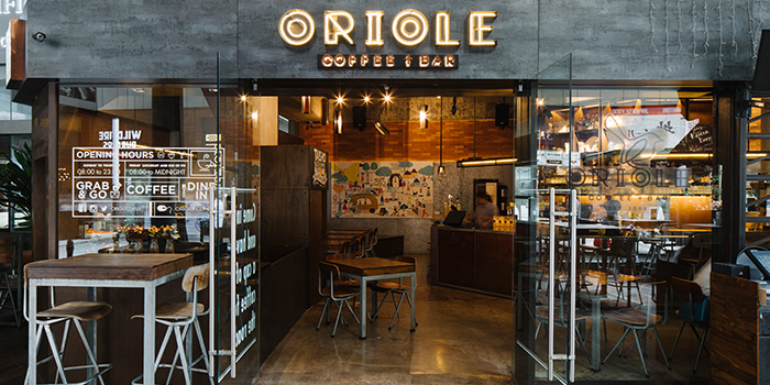 Entrance of Oriole Coffee + Bar at Pan Pacific Serviced Suites in Orchard, Singapore
