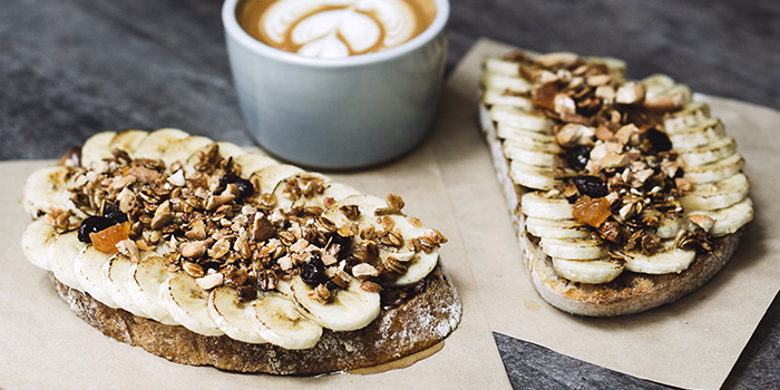 Nutella & Banana Toast from Pickleville in Raffles Place, Singapore