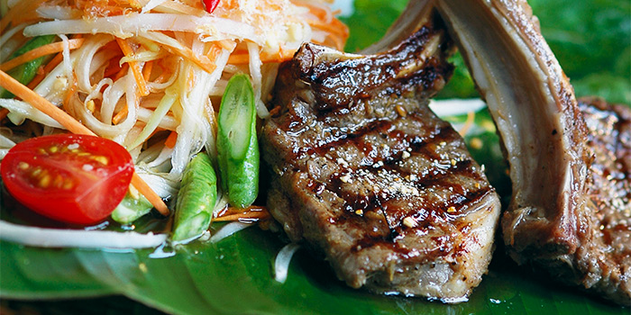 Lemongrass Marinated New Zealand Lamb with Salad from Patara Fine Thai Cuisine at Tanglin Mall in Tanglin, Singapore