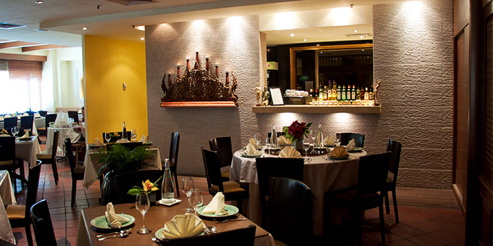Interior of Patara Fine Thai Cuisine at Tanglin Mall in Tanglin, Singapore
