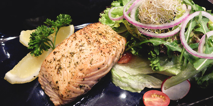 Grilled Salmon Filet from Paulaner Bräuhaus at Millenia Walk in Promenade, Singapore