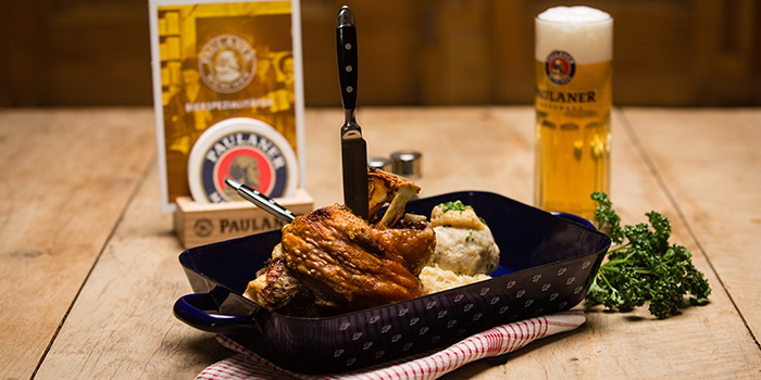 Pork Knuckle from Paulaner Bräuhaus at Millenia Walk in Promenade, Singapore