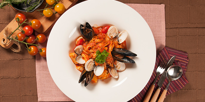 Penne Seafood from Rosso Vino in Robertson Quay, Singapore