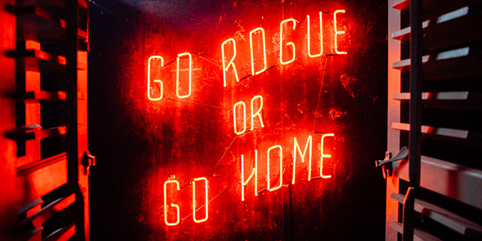 Neon Marquee from Rogue Trader in Little India, Singapore