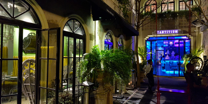 Restaurant-Atmosphere of Tantitium in Phuket Town, Muang, Phuket, Thailand