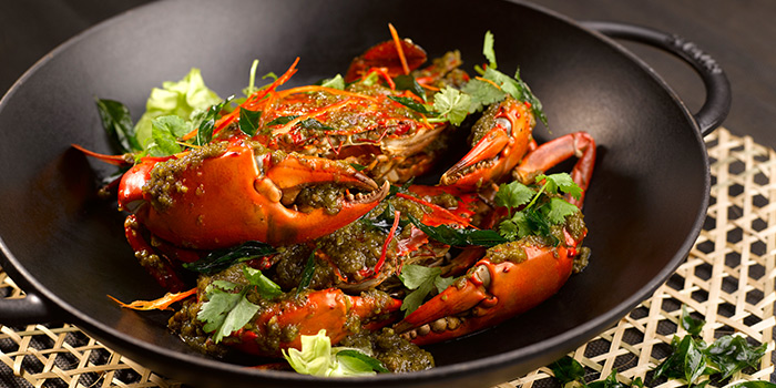 Wok-Fried Green Pepper Crab from StraitsKitchen in Grand Hyatt in Orchard, Singapore
