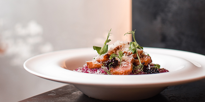 Smoked Duck and Blackcurrant with Shredded Parmesan Cheese Risotto, The Coffee Academics, Causeway Bay, Hong Kong