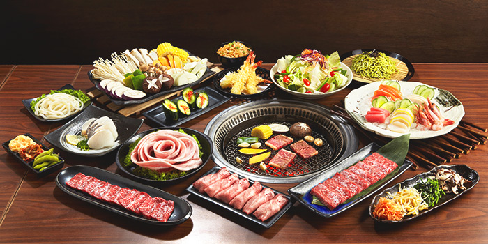 Food Spread from Tajimaya Yakiniku at Vivocity in Harbourfront, Singapore