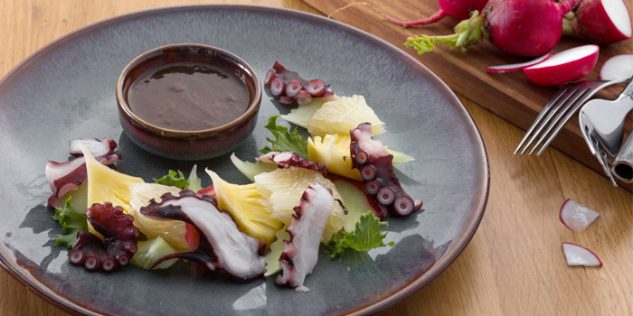 Tako (Octopus with Mixed Fruits Salad Old Phuket Style Dressing from Twilight Sky at The SIS Kata, Phuket, Thailand