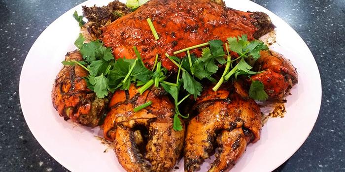 Black Pepper Crab from Tekong Seafood Restaurant at Changi Village in Changi, Singapore
