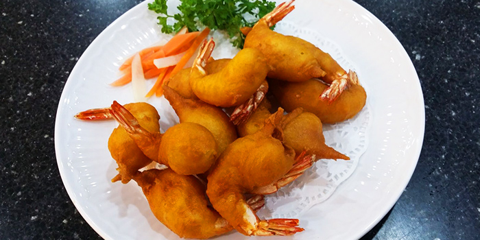 Prawn Fritters from Tekong Seafood Restaurant at Changi Village in Changi, Singapore