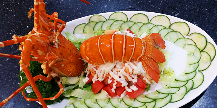 Lobster Salad from Tekong Seafood Restaurant at Changi Village in Changi, Singapore