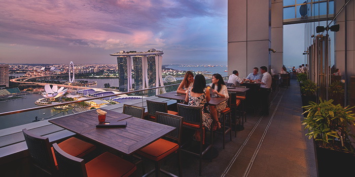 Al Fresco Dining of LeVeL33 in Marina Bay Financial Centre in Marina Bay, Singapore