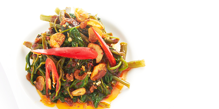 Stir-Fried Kangkong from Thai Accent at VivoCity in Habourfront, Singapore