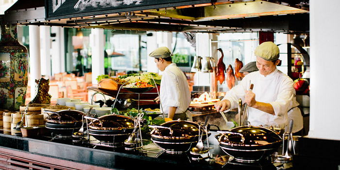 The Open Kitchen from Riverside Terrace at Anantara Riverside Bangkok Resort 257/1-2 Thonburi, Bangkok