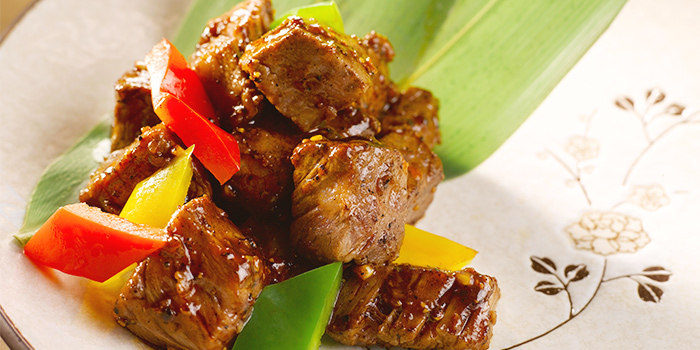 Cantonese Style Stir-Fried Wagyu Beef from Yan Ting at The St. Regis Singapore in Tanglin, Singapore