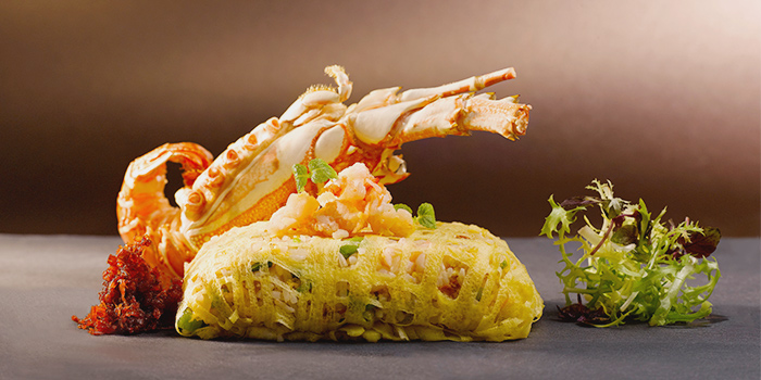 Lobster Wok-Fried Rice with Homemade XO Sauce from Yan Ting at The St. Regis Singapore in Tanglin, Singapore