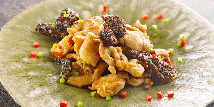 Pan-Fried Chicken with Morel in Superior Soy Sauce from Yan Ting at The St. Regis Singapore in Tanglin, Singapore