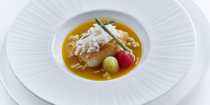 Cod fillet with supreme seafood broth, Shang Palace, Tsim Sha Tsui, Hong Kong