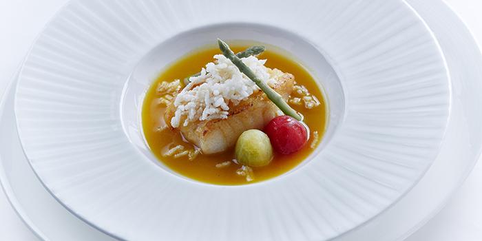 Cod fillet with supreme seafood broth, Shang Palace, Tsim Sha Tsui, Hong Kong