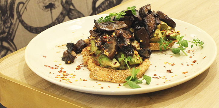 Marmite Mushroom Toast from Common Man Stan in Raffles Place, Singapore