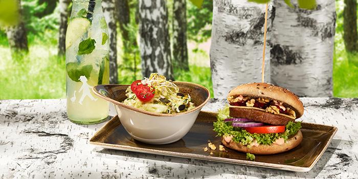 Vegetarian Burger MITTAGSMENU WOHLFEIN  from Hans Im Gluck German Burgergrill (VivoCity) at VivoCity in HarbourFront, Singapore