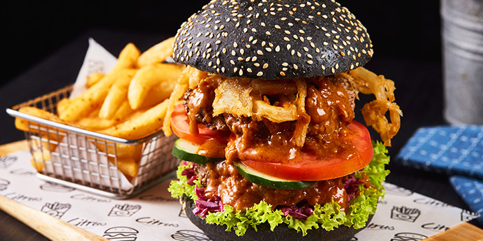 Big Boss Burger from Citrus Bistro at Sengkang Sports Centre in Sengkang, Singapore