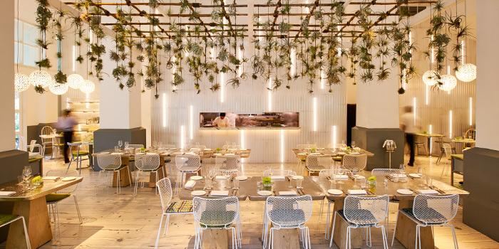 Interior of COMO Cuisine in Dempsey, Singapore