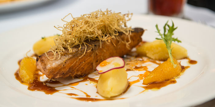 Crispy Skin Salmon at Union Deli, Jakarta