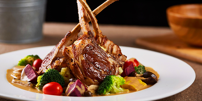 Cajun Lamb Rack from Citrus by The Pool at Woodlands Swimming Complex in Woodlands, Singapore