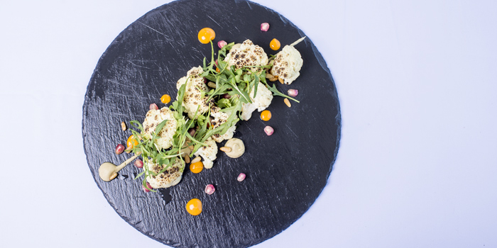 Charred-cauliflower-salad from Cosmo in Nai Harn, Phuket, Thailand.